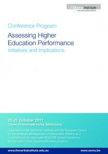 Assessing Higher Education Performance