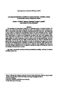 Assessing intraindividual variability in sustained attention: reliability, relation to speed and accuracy, and practice effects