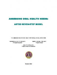 ASSESSING ORAL HEALTH NEEDS: