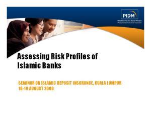Assessing Risk Profiles of Islamic Banks