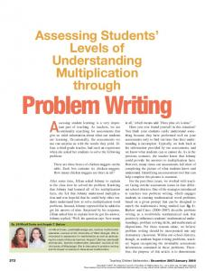 Assessing Students Levels of Understanding Multiplication through