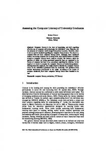 Assessing the Computer Literacy of University Graduates