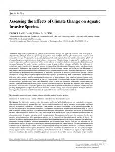 Assessing the Effects of Climate Change on Aquatic Invasive Species