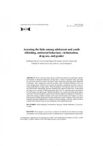 Assessing the links among adolescent and youth offending, antisocial behaviour, victimization, drug use, and gender