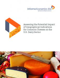 Assessing the Potential Impact of Geographical Indications for Common Cheeses on the U.S. Dairy Sector