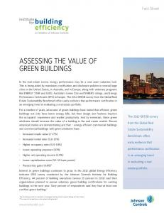 Assessing the Value of Green Buildings