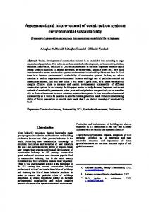 Assessment and improvement of construction systems environmental sustainability