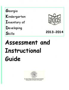 Assessment and Instructional Guide