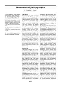 Assessment of ankylosing spondylitis