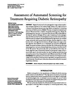 Assessment of Automated Screening for Treatment-Requiring Diabetic Retinopathy