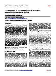 Assessment of bone condition by acoustic emission technique: A review
