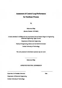 Assessment of Control Loop Performance. for Nonlinear Process
