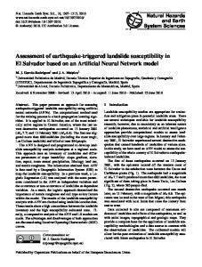 Assessment of earthquake-triggered landslide susceptibility in El Salvador based on an Artificial Neural Network model