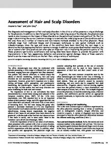 Assessment of Hair and Scalp Disorders