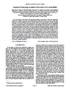 Assessment of long-range correlation in time series: How to avoid pitfalls