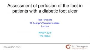 Assessment of perfusion of the foot in patients with a diabetic foot ulcer