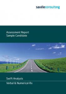 Assessment Report Sample Candidate