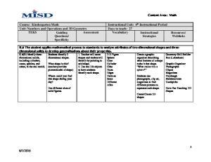 Assessment Vocabulary Instructional Strategies