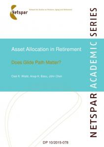Asset Allocation in Retirement