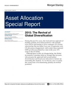 Asset Allocation Special Report