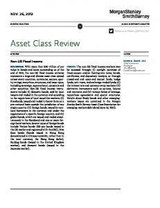 Asset Class Review NOV. 26, Non-US Fixed Income