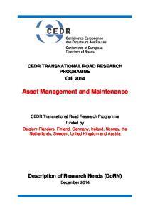 Asset Management and Maintenance