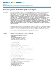 Asset Management - Global Strategic Business Report