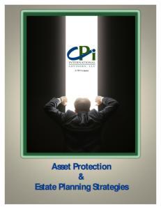 Asset Protection & Estate Planning Strategies
