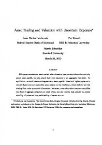 Asset Trading and Valuation with Uncertain Exposure