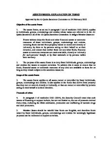 ASSETS FREEZE: EXPLANATION OF TERMS. Approved by the Al-Qaida Sanctions Committee on 24 February 2015
