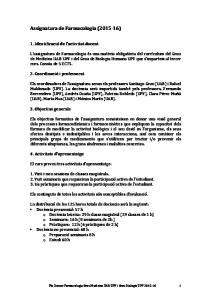 Assignatura de Farmacologia ( )