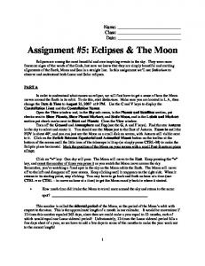 Assignment #5: Eclipses & The Moon