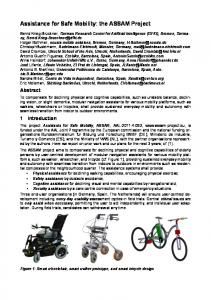 Assistance for Safe Mobility: the ASSAM Project
