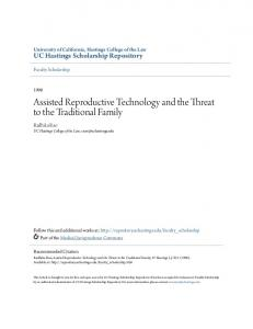 Assisted Reproductive Technology and the Threat to the Traditional Family