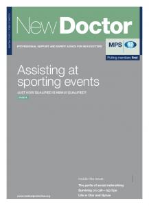 Assisting at sporting events