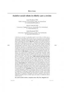 Assistive social robots in elderly care: a review