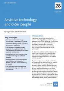 Assistive technology and older people