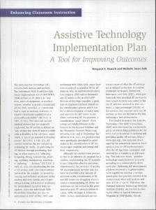 Assistive Technology Implementation Plan