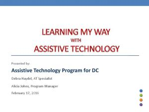 Assistive Technology Program for DC