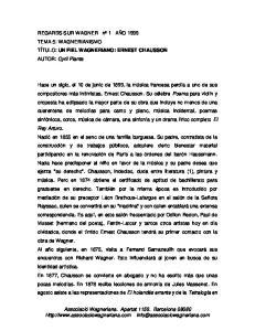 Associació Wagneriana. Apartat Barcelona