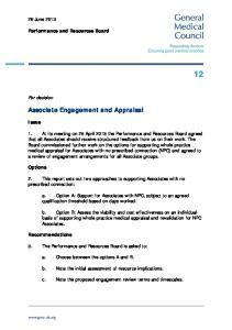 Associate Engagement and Appraisal