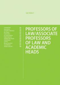 ASSOCIATE PROFESSORS OF LAW AND ACADEMIC HEADS
