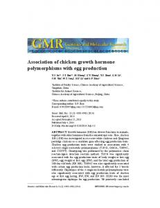 Association of chicken growth hormone polymorphisms with egg production