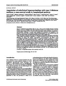 Association of subclinical hypercortisolism with type 2 diabetes mellitus: a case-control study in hospitalized patients