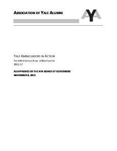 ASSOCIATION OF YALE ALUMNI