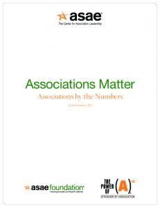 Associations Matter Associations by the Numbers