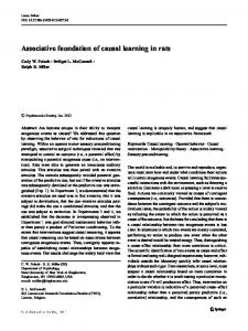 Associative foundation of causal learning in rats