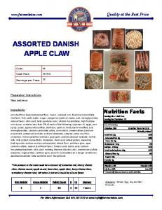 ASSORTED DANISH APPLE CLAW