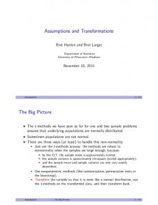 Assumptions and Transformations