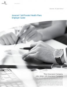 Assurant Self-Funded Health Plans Employer Guide